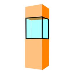 Säulenvitrinen